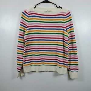 & Other Stories Rainbow Stripe Boatneck Sweater